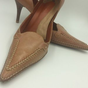 """PAZZO all leather 3"""" Heels size:8"""